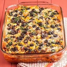 Enchilada Breakfast Casserole. Don't expect leftovers!  Chew Out Loud