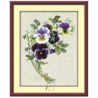 Bunch of Pansies Counted Cross Stitch Kit