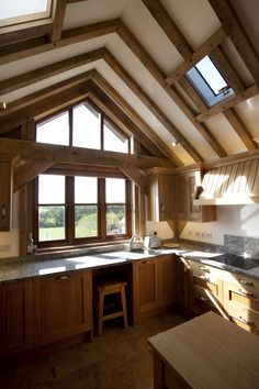 Traditional cottage kitchen in a timber framed home in Bude designed by The Bazeley Partnership
