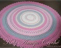 Kết quả hình ảnh cho tapetes de crochê redondos para sala
