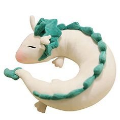 Evalent Anime Cute White Dragon Doll Plush Toy Japanese A...