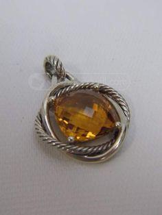 shopgoodwill.com: David Yurman Cable Pendant Sterling Silver Citrine
