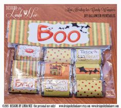 Halloween TREAT BAG Topper and Mini Candy by DesignsbyLindaNee