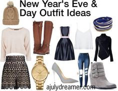 New Year's Eve and Day outfit ideas. I always like putting these outfits together to close and open the year in style.