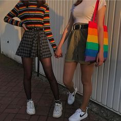 Imagen de clothes, fashion, and girls Edgy Outfits, Retro Outfits, Grunge Outfits, Vintage Outfits, Cute Outfits, Aesthetic Fashion, Aesthetic Clothes, Gay Aesthetic, Moda Ulzzang