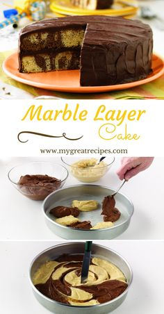 Beautiful #marble #cakes are not as hard to make as you might think. All it takes is a little creative spooning with the batter!