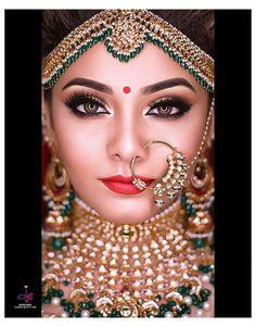 Indian Wedding Bride, Indian Wedding Makeup, Best Bridal Makeup, Wedding Makeup Looks, Bride Makeup, Indian Makeup Looks, India Wedding, Indian Bridal Photos, Indian Bridal Outfits