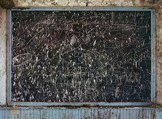 The chalkboard at a tiny school in Cherry County, Neb., which served several ranching families before it was closed in the early 1990s.