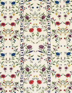 Scalamandre Jardin de Tuileries -- fabric used in Jackie's bedroom at 1040 Fifth