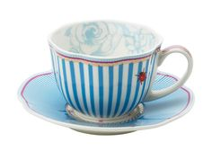 Tea party blue and white with love from Lisbeth Dahl porcelain