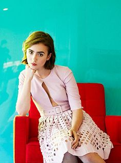 Lily Collins for Yahoo Style!