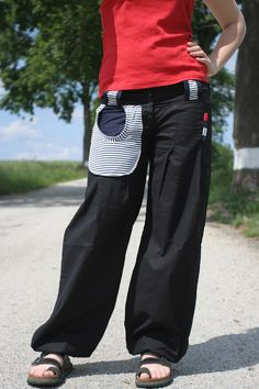 Volné a pohodlné kalhoty v balónovém stylu