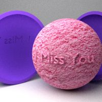 Fragrant Bath Bomb with the special Wish! Just drop into the baththub and enjoy the fragrant and most the relaxing bath ever ! Awesome Gift for any occasion for your life partner, familiy, friends...
