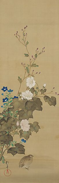 August - Sakai Hōitsu (1761-1828) - Birds and Flowers of the Twelve Months