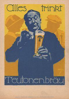 Teutonenbrau by Ludwig Hohlwein - Vintage Hohlwein Artist Gallery ...