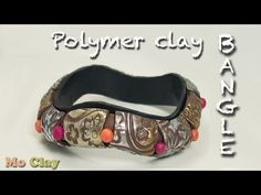 Easy Polymer Clay wavy Bangle tutorial - DIY Bracelet - YouTube