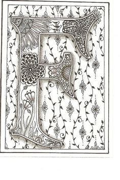 "In ancient manuscripts, it was called ""illumination."" I like that so much better than zentangle or doodling!"