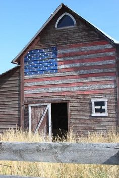 Old Americana Barn...America - The United States of America - American Flag - Liberty - Justice - Freedom - USA - The US - God Bless America! More
