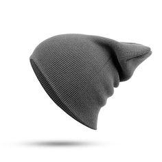 d99c19c7d10c Women Men Solid Knitted Warm Beanies Hat Casual Hip-hop Slouch Skullies  Bonnet Cap. Chapeau HommeCasquetteChapeaux D hiverTricotBonnet ...