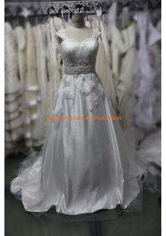 A-line Glamoures Extravagante Brautkleider 2013 aus Satin mit Applikation