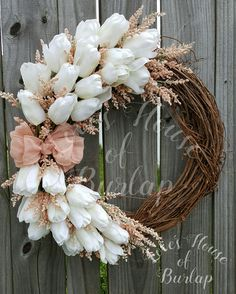 Excited to share the latest addition to my #etsy shop: Spring wreath, Rustic wreath, Flower wreath, Tulip wreath, Mother's Day wreath, Summer wreath, Front door wreath, Grapevine wreath