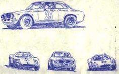 Alfa Romeo GTA no. 25, da equipe Jolly, pilotado pelo Emilio Zambello e Piero Gancia; o Willys Bino Mk-II de Luiz Pereira Bueno em homenagem à Christian Heins;por.Anísio Campos