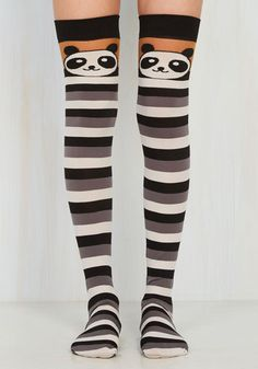 b39bd799e88 Opening Panda s Box Thigh Highs. Pulling these black