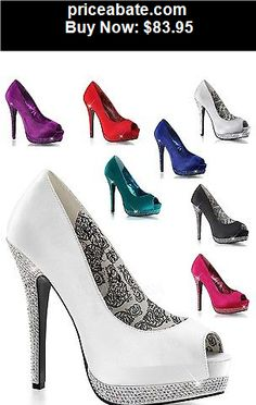Wedding-Shoes-And-Bridal-Shoes: Bella 12 Satin upper Rhinestone Platform Open Toe High Heel Shoe Wedding Prom - BUY IT NOW ONLY $83.95