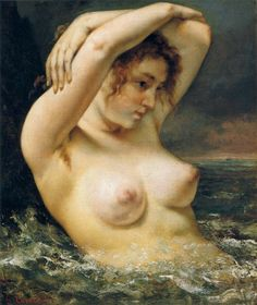 DONNA FRA LE ONDE Coubert- 1868- olio su tela- Metropolitan Museum of Art, New York City