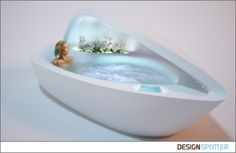 Bathtub With Luxurious Features Inspired by Mother of Pearl – Spa Bathtub - The Great Inspiration for Your Building Design - Home, Building, Furniture and Interior Design Ideas Pearl Spa, Design Studio, House Design, Zen Design, Luxury Bathtub, Luxury Spa, Bathtub Drain, Spa Tub, Home Spa
