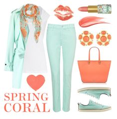 """""""Spring Coral"""" by lgb321 ❤ liked on Polyvore featuring Rebecca Minkoff, NYDJ, James Perse, tarte, Reef, Chicwish, Kenneth Jay Lane, Hourglass Cosmetics, women's clothing and women"""