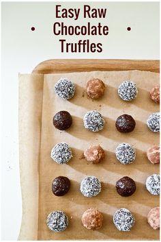 Truffes faciles au chocolat cru