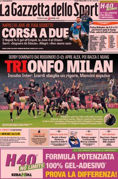 Rassegna stampa Italia: trionfo Milan - http://www.maidirecalcio.com/2016/02/01/rassegna-stampa-italia-trionfo-milan.html