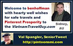 #pintoonsmi #twitter Welcome other social media contacts joining #pinterest  when U are email notified! vietnamtravelguy.com pintoonsmi.com