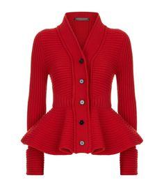 Women: Knitwear Alexander McQueen Peplum Cardigan