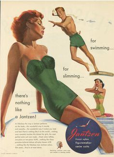 There's nothing like a 1950's swimsuit. Just a little taken with them, I am.