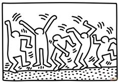 Explore the best Keith Haring quotes here at OpenQuotes. Quotations, aphorisms and citations by Keith Haring Colouring Pages, Adult Coloring Pages, Coloring Sheets, Coloring Book, Art Pop, Keith Haring Art, Dancing Figures, Ecole Art, Art Gallery