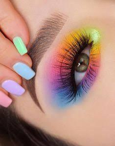 Dramatic Eye Makeup, Eye Makeup Steps, Makeup Eye Looks, Colorful Eye Makeup, Eye Makeup Art, Natural Eye Makeup, Blue Eye Makeup, Smokey Eye Makeup, Cute Makeup
