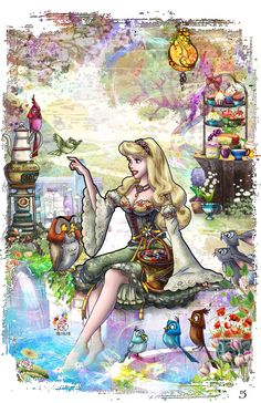 Hello Here is the companion piece for the Prince Philip which I submitted a while ago, let me know what you think. Briar Rose is my favorite Disney prin. I wonder, if I met you once upon a dream. Film Disney, Arte Disney, Disney Fan Art, Disney Love, Aurora Disney, Cinderella Disney, Disney Princesses, Sleeping Beauty 1959, Disney Sleeping Beauty