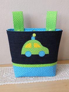 """Lenkertaschen - Lenkertasche, Laufradtasche, """"Polizeiauto"""" - ein Designerstück von Lisa-Toews bei DaWanda"""