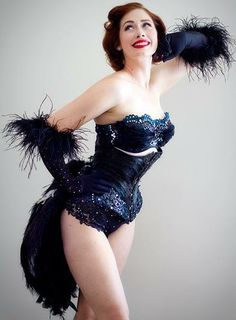 "DIY burlesque feather bustle    In Your Skin: ""Burlesque is the Accidental Stripper"" -Leda Petit"