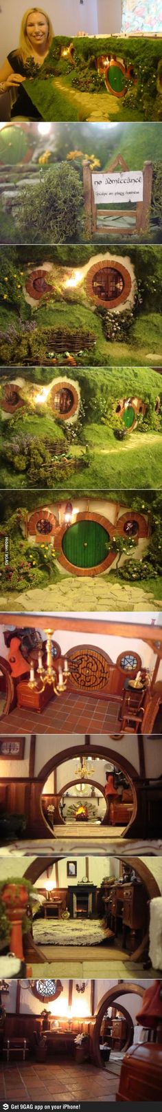 Awesome Hobbit Dollhouse! I want to be best friends with this woman.