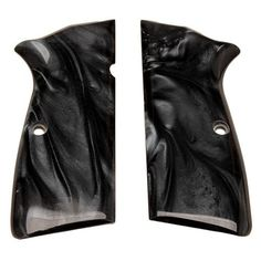 Browning Hi-Power Grip Panels - Black Pearl