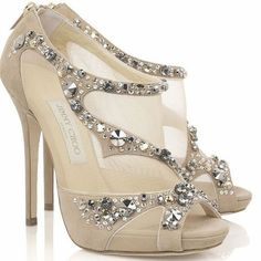 Sparkly Nude Shoes. Jimmy Choo Stunning.
