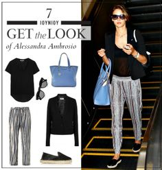 Get the look: Το άνετο casual look της Alessandra Ambrosio