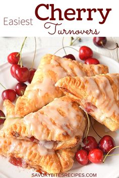 Very easy,delicious homemade Cherry Turnovers recipe is what you have to try,so good with fresh cherry pie filling and with flaky puff pastry makes them perfect for breakfast and dessert too. Cherry Desserts, Cherry Recipes, Desserts With Cherries, Cherry Pie Filling Desserts, Homemade Cherry Pies, Cherry Hand Pies, Homemade Pie, Homemade Breads, Cherry Turnovers