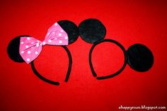 DIY Mickey & Minnie ears...soo easy. Great and easy to follow directions!