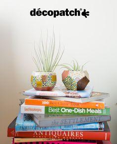 Sur de la terre cuite ? Oui ça colle #DIY #Decopatch #Deco #Plantes #Custom