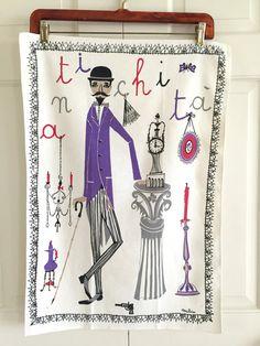 Milvia, Vintage tea towel