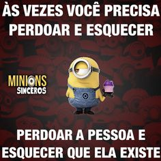 Fazer o que né - Sigam também Humor Minion, Minions Quotes, Funny Quotes, Funny Memes, Jokes, 4 Panel Life, Truth Of Life, Some Words, Sentences